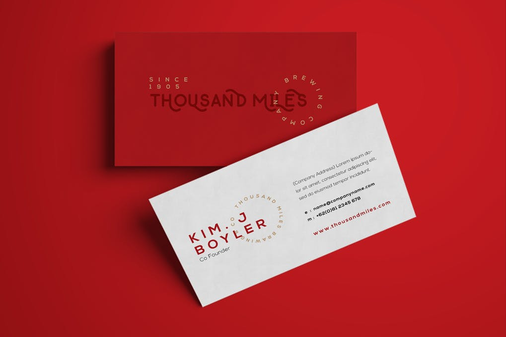art director's pick of writer business card #24