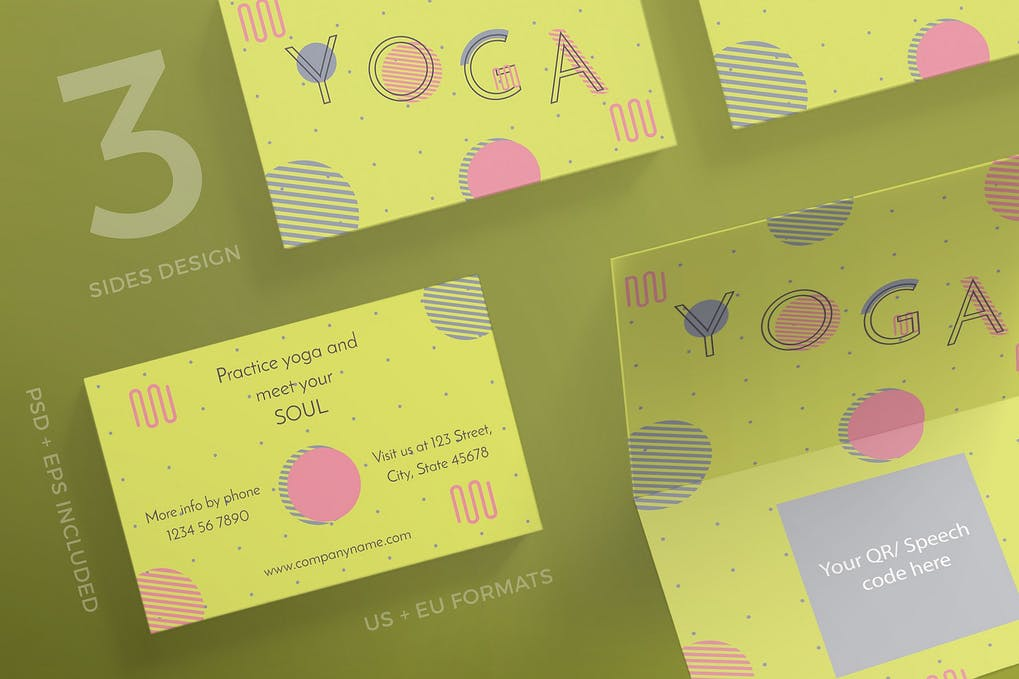 art director's pick of yoga business card #6