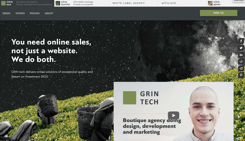 Agency Website Example