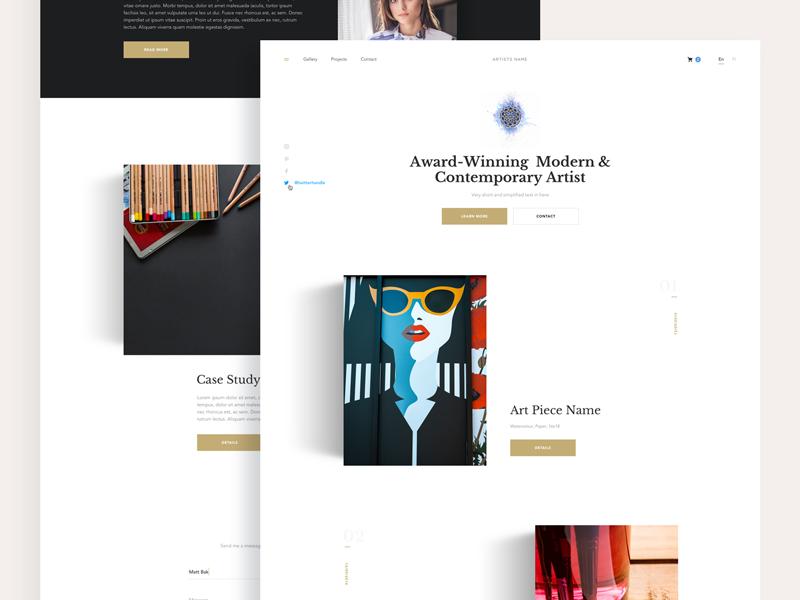 Artist Website Example #2
