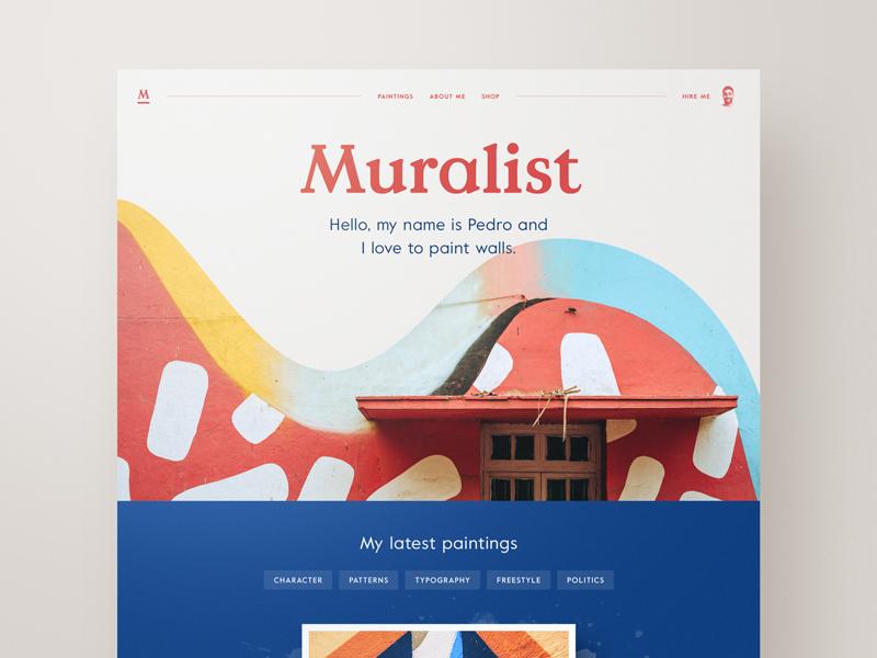 Artist Website Example #1