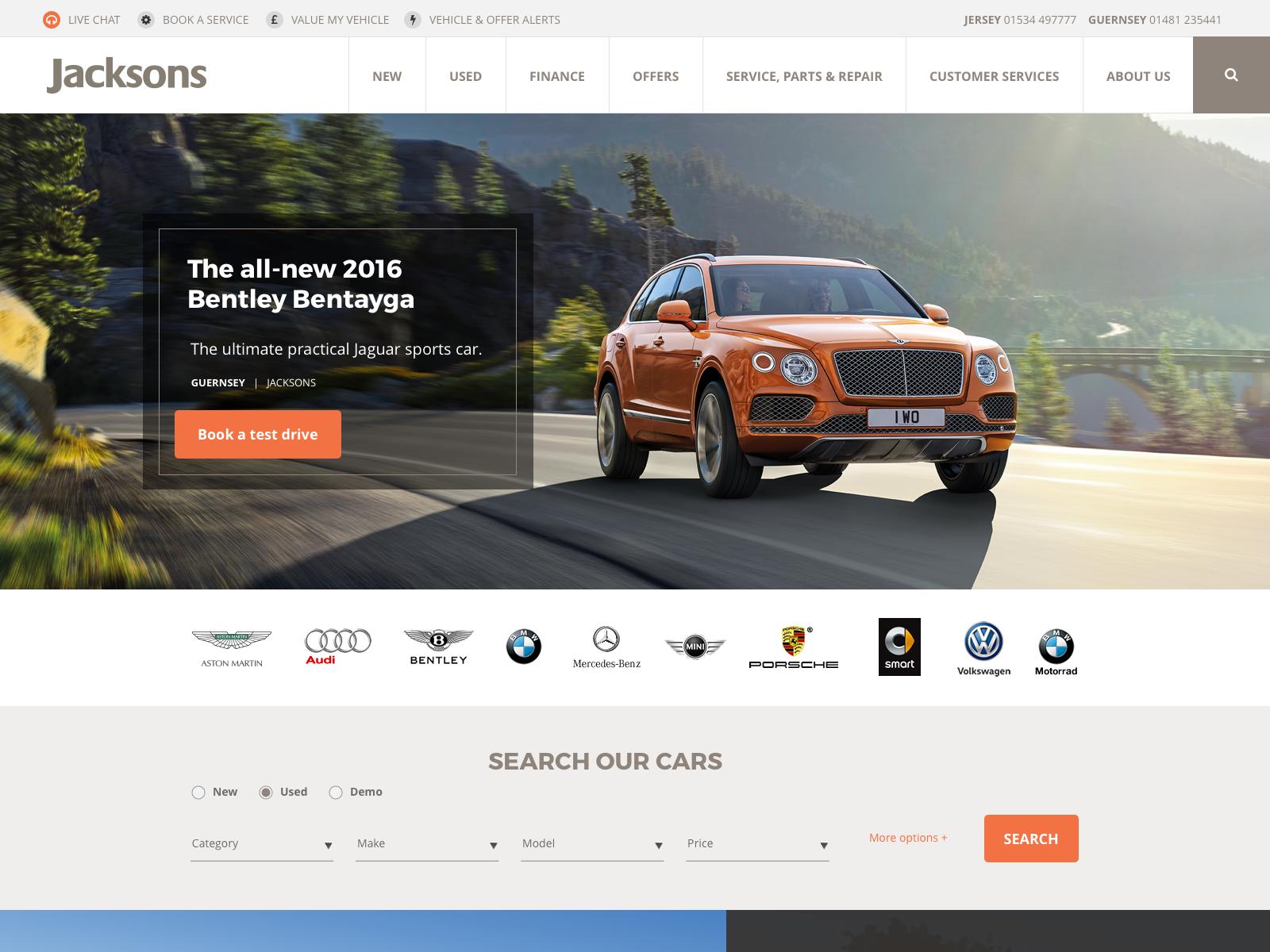 Auto Dealership Website Design Example #1