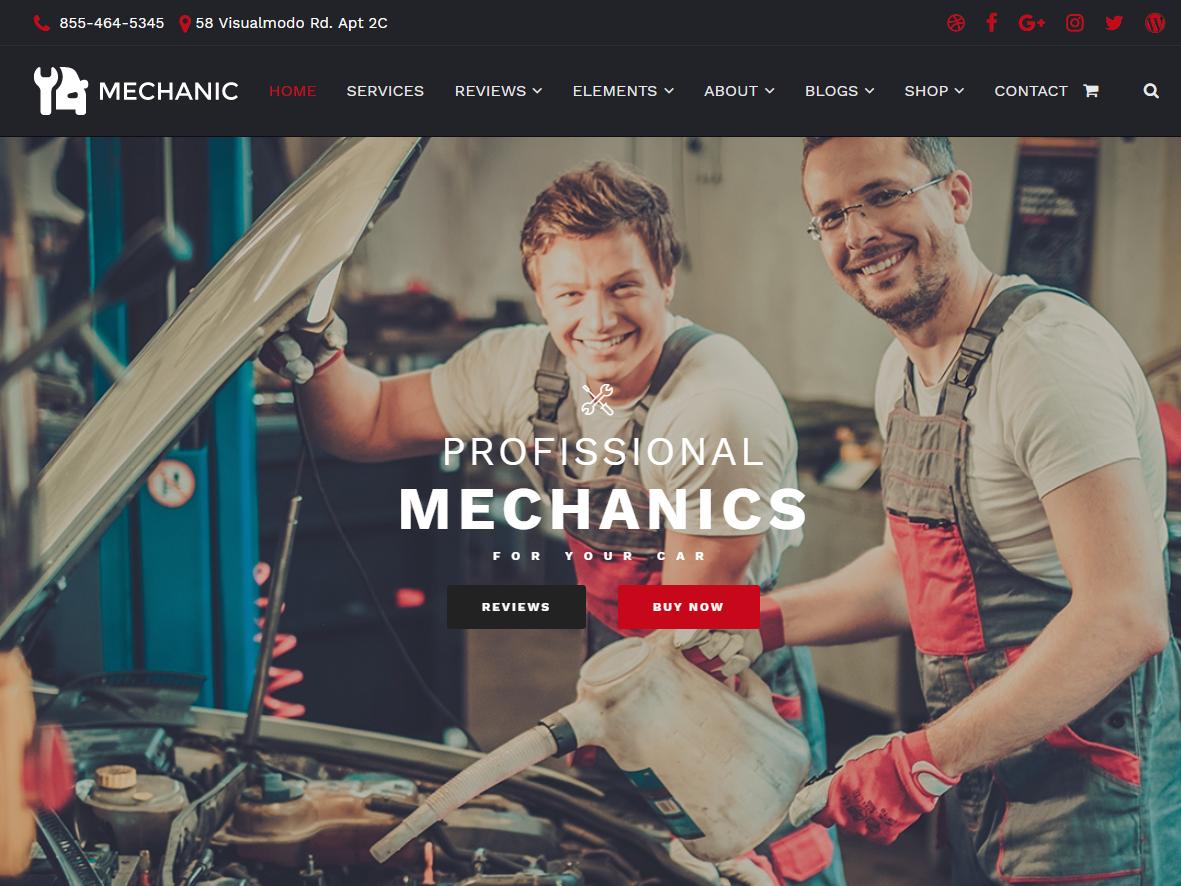 Auto Repair Website Design Example #2