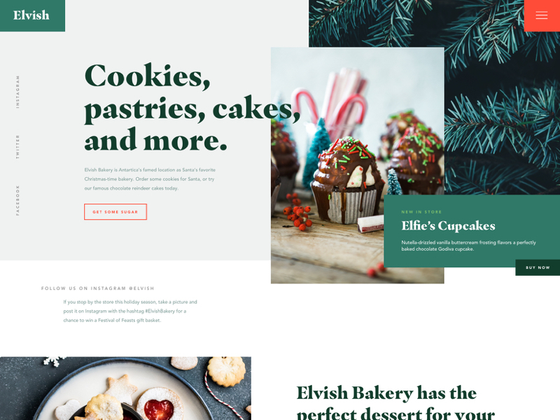 Bakery Website Design Example #1