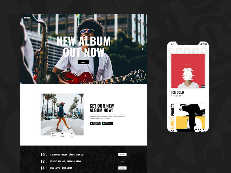 Band Website Design Example #1