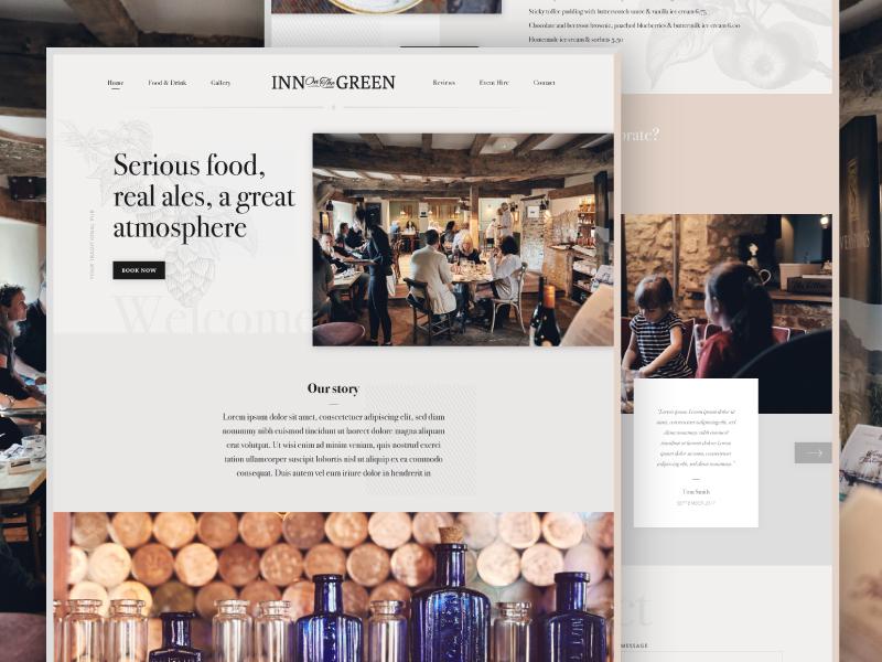 Bar Website Design Example #2