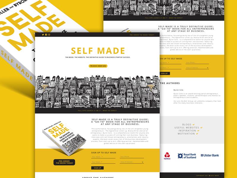 Book Launch Website Example #2
