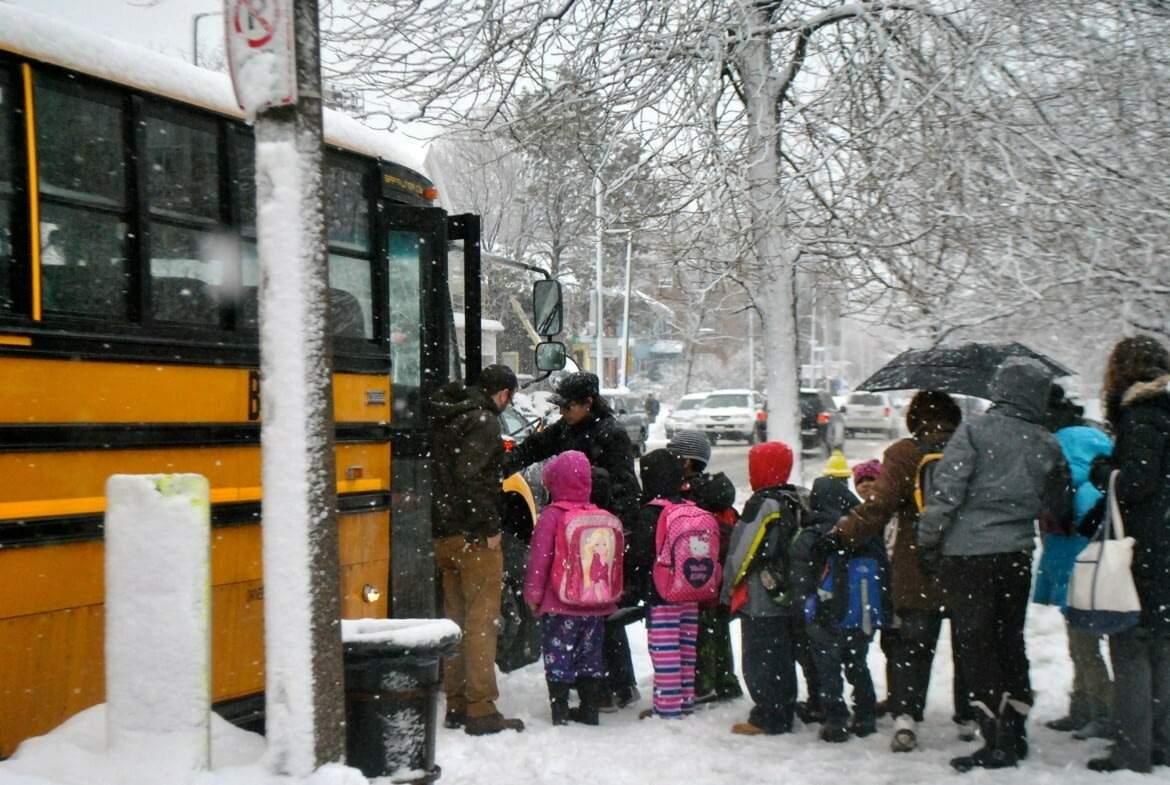 Boston School Bus and Children