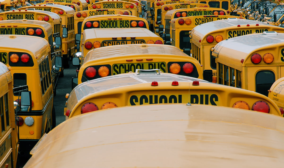 Boston School Bus Photo