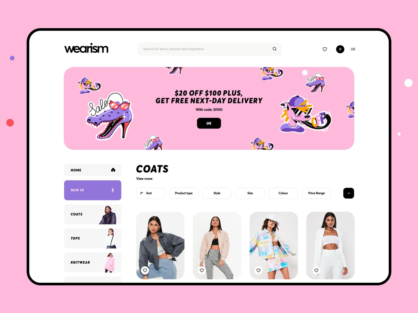 Boutique Website Design Example #1