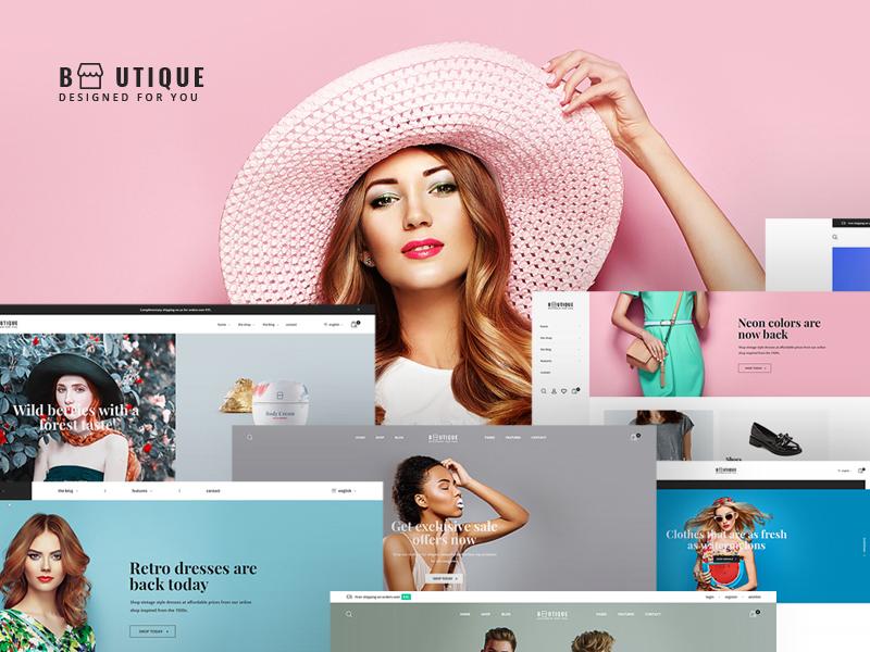 Boutique Website Design Example #2