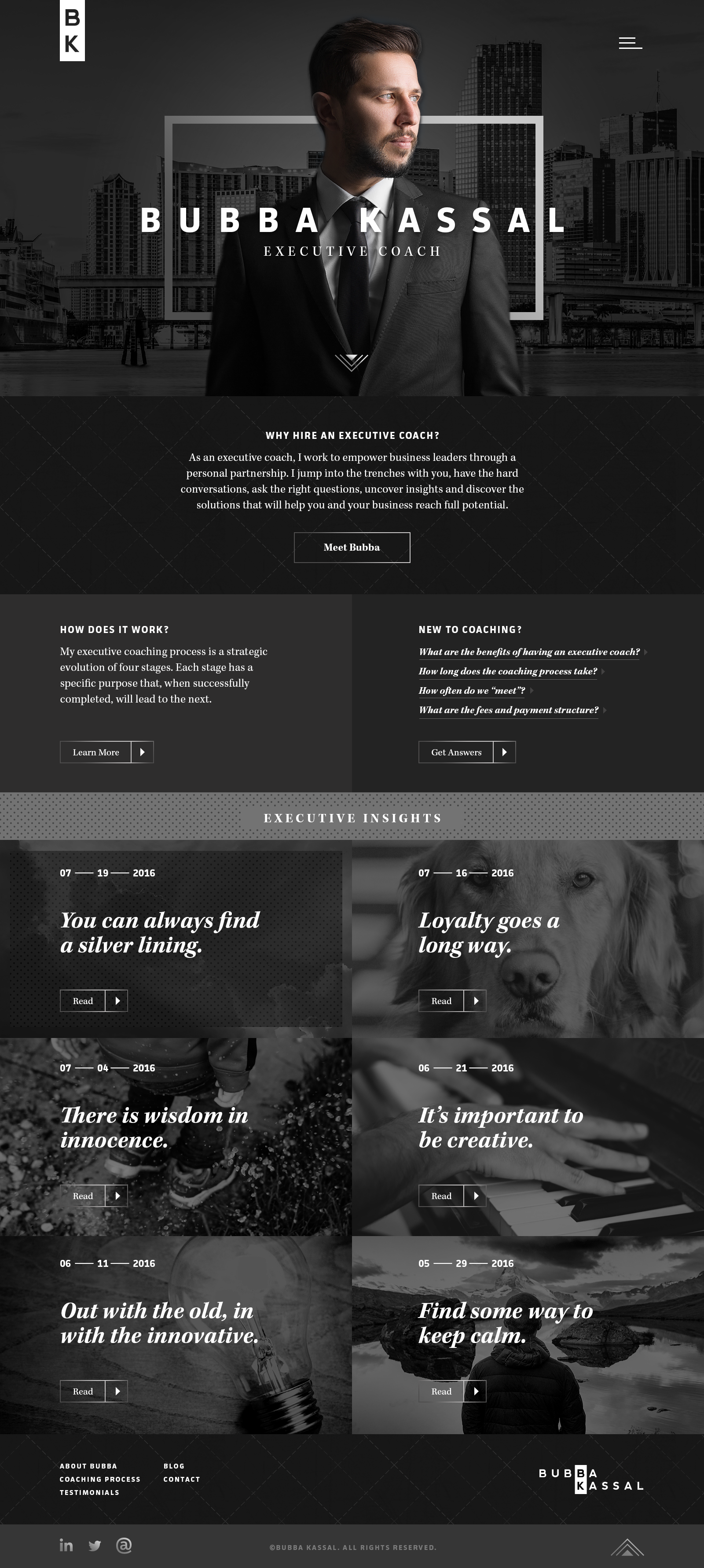 Business Coach Website Example #2