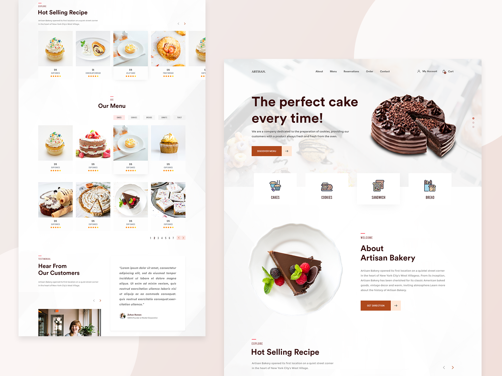 Cake Website Example #1