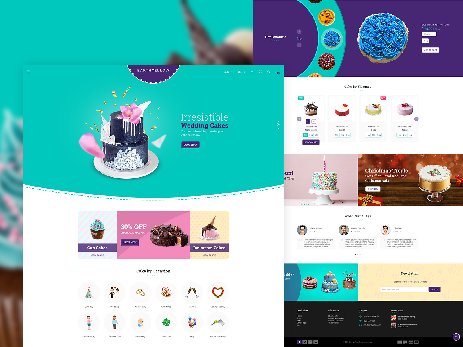 Cake Website Design Example #2