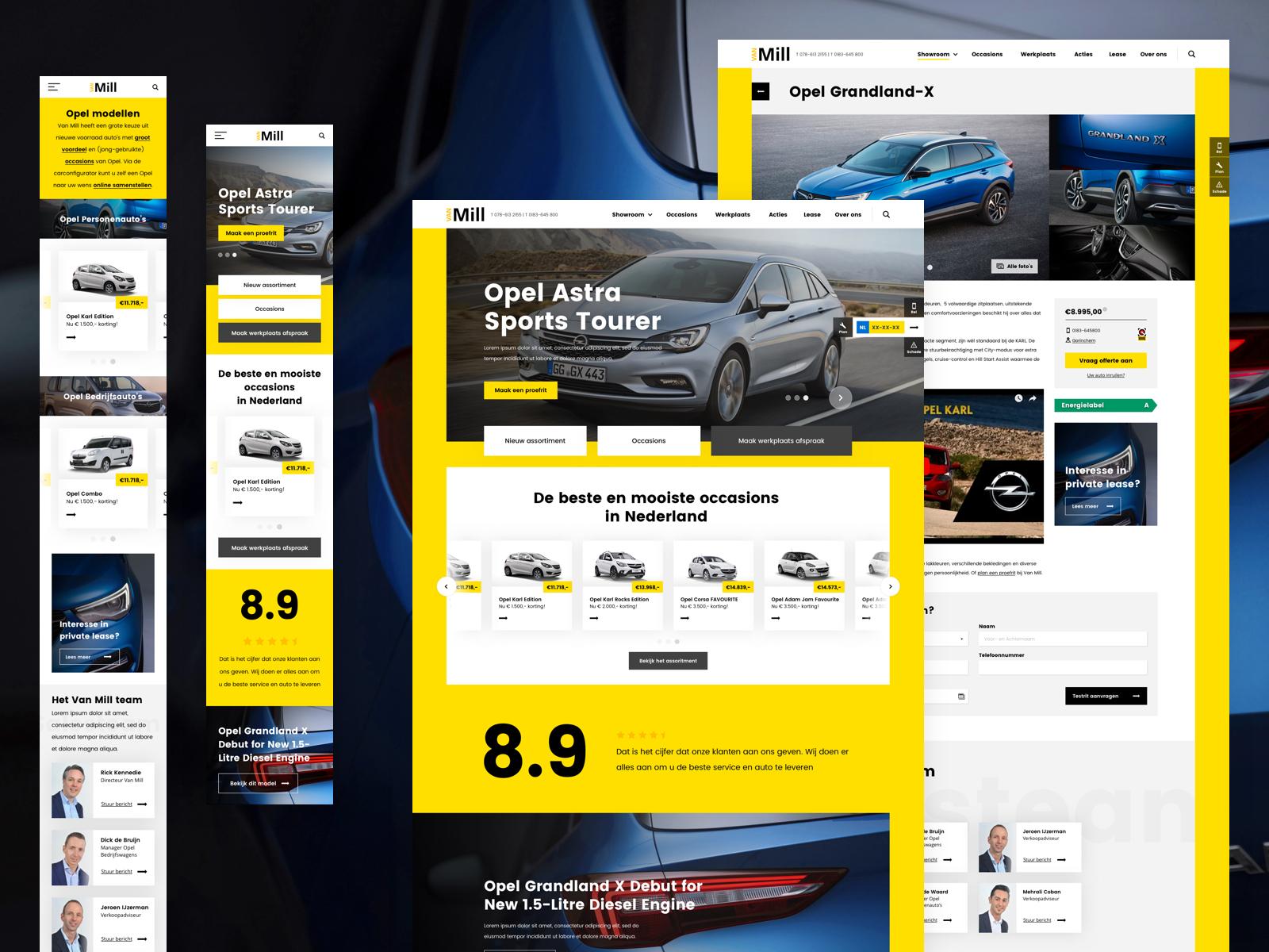 Car Salesman's Personal Website Example #1