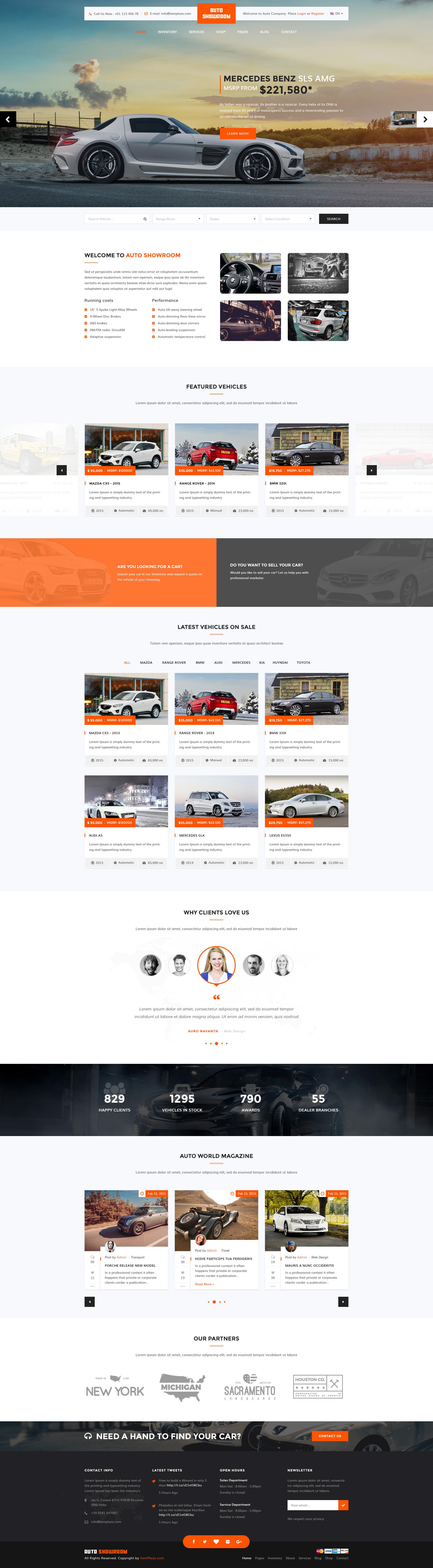 Car Salesman's Personal Website Example #2