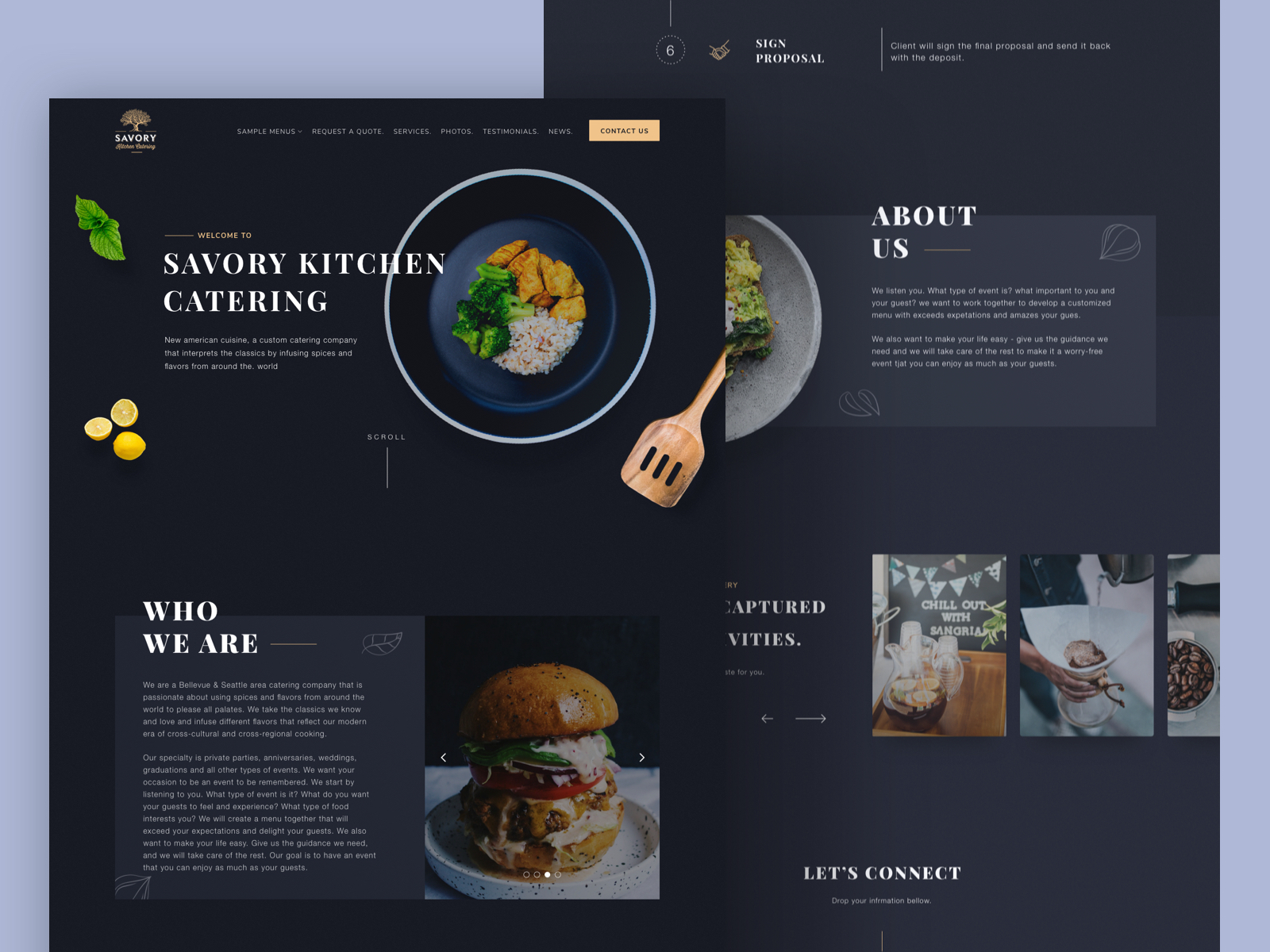 Catering Website Design Example #1
