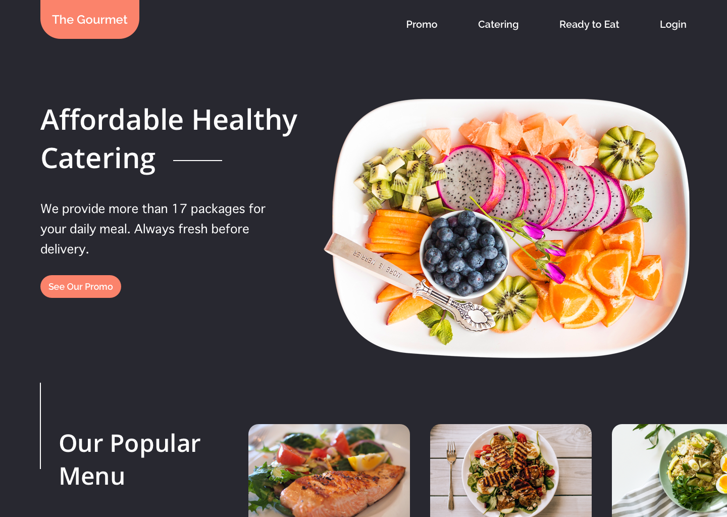 Catering Website Design Example #2