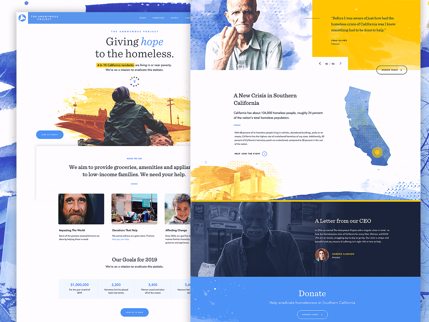 Charity Website Design Example #1