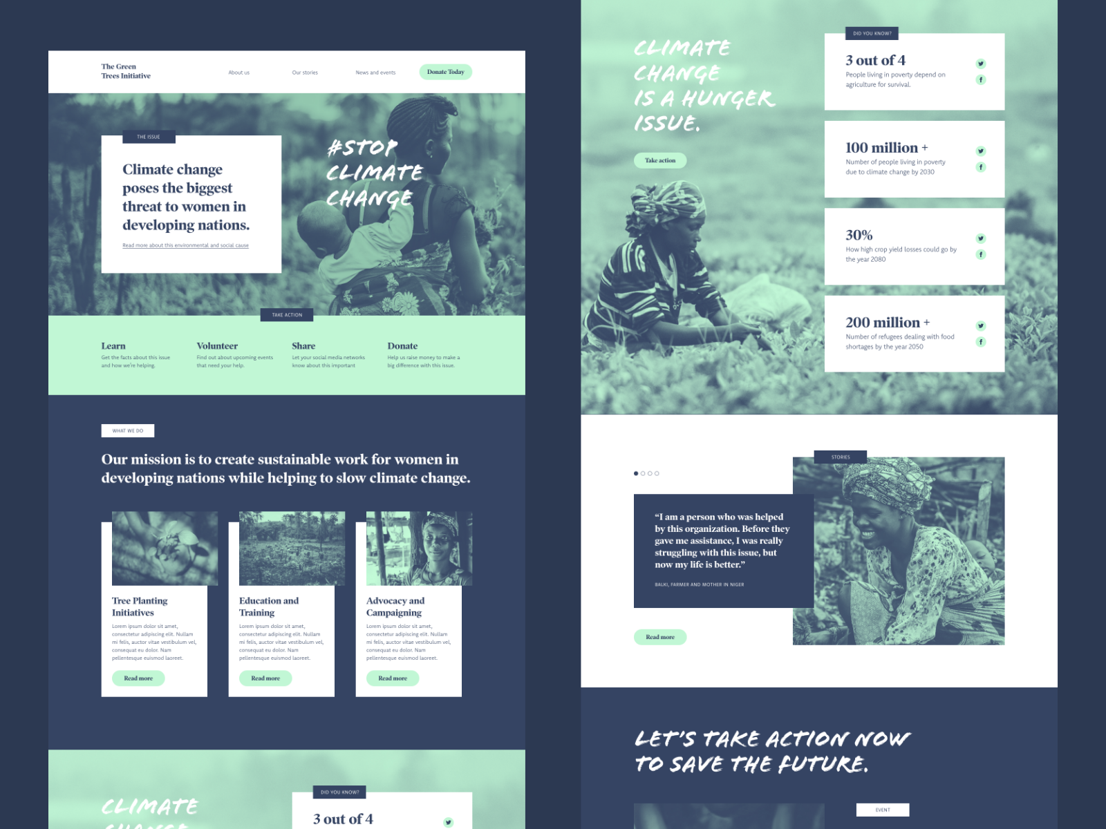 Charity Website Design Example #2