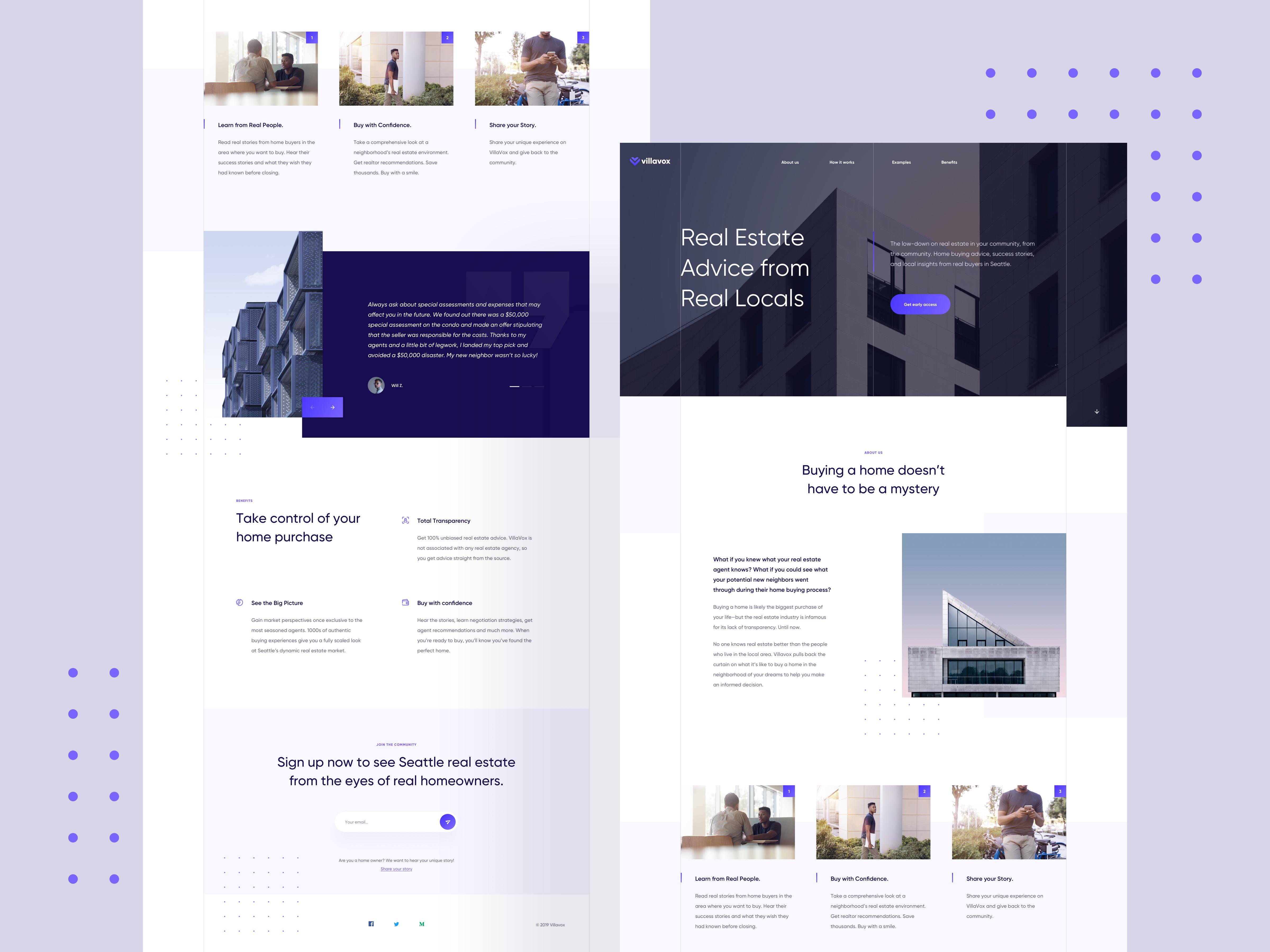 Custom Real Estate Website Design Example #1