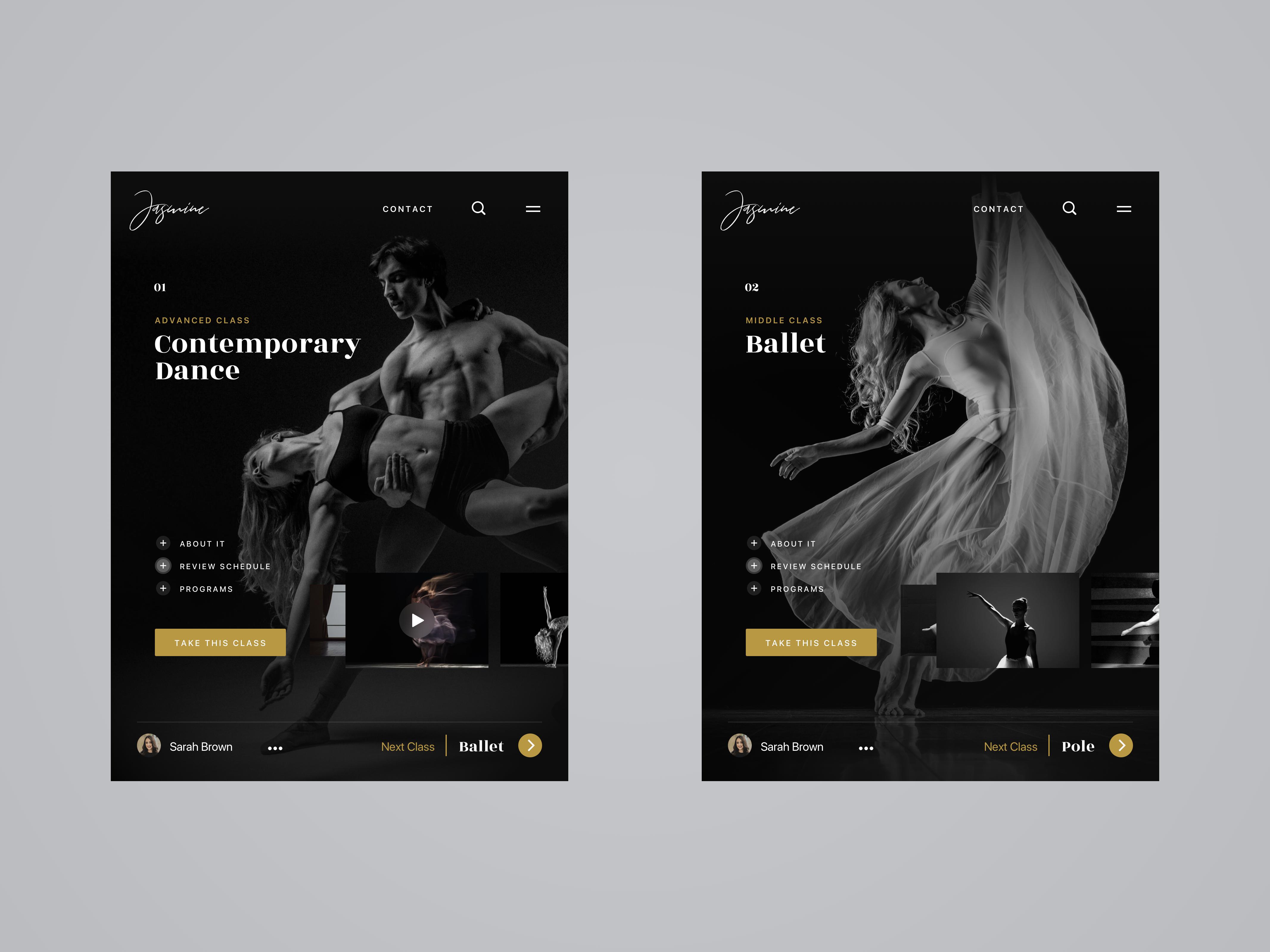 Dance Studio Website Design Example #1