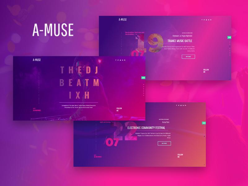 DJ Website Design Example #1