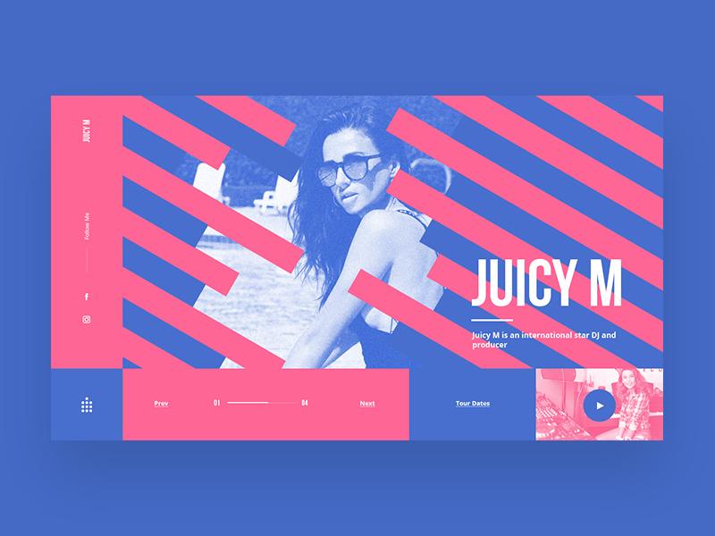 DJ Website Design Example #2