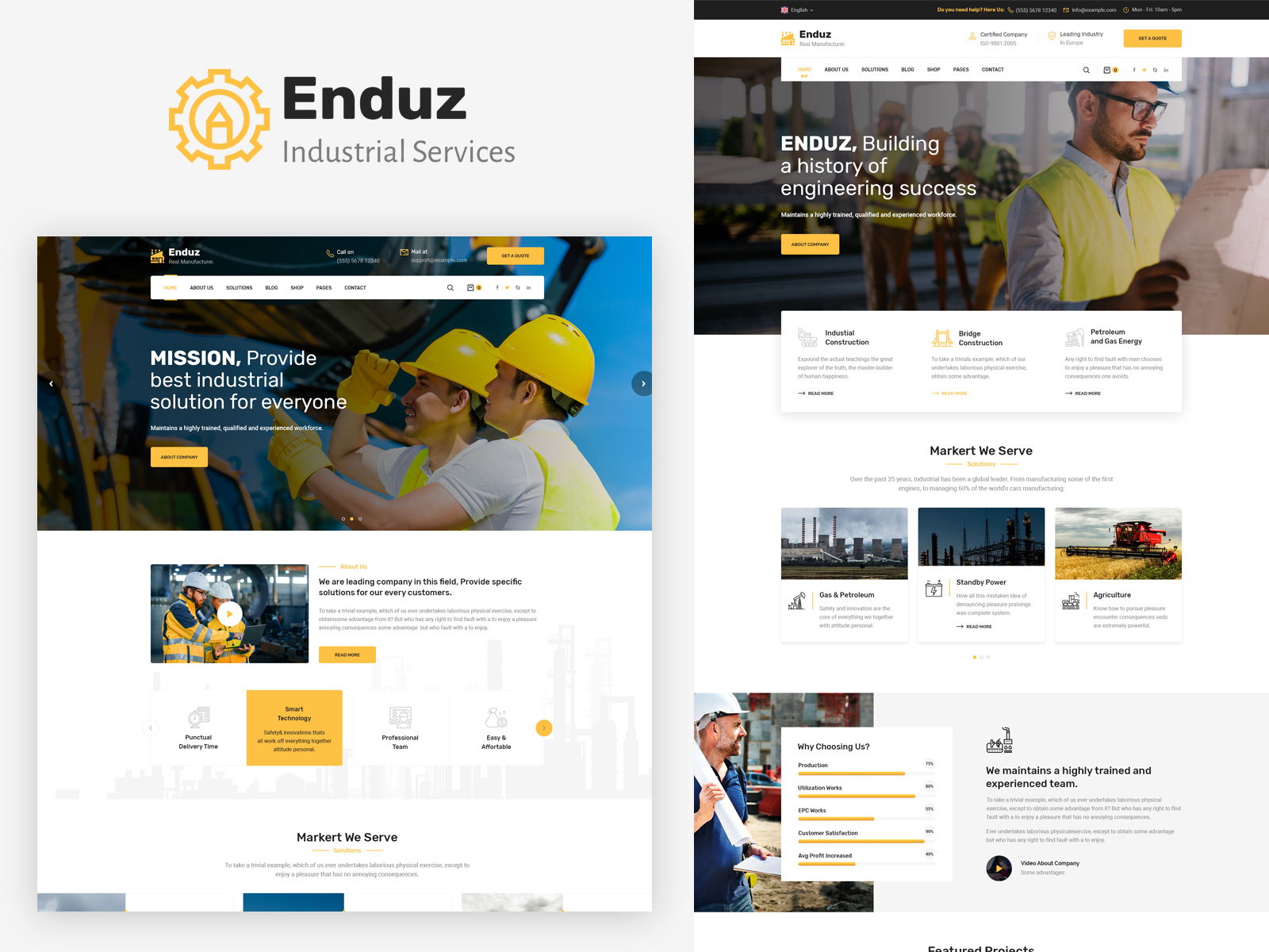 Engineering Portfolio Website Example #2