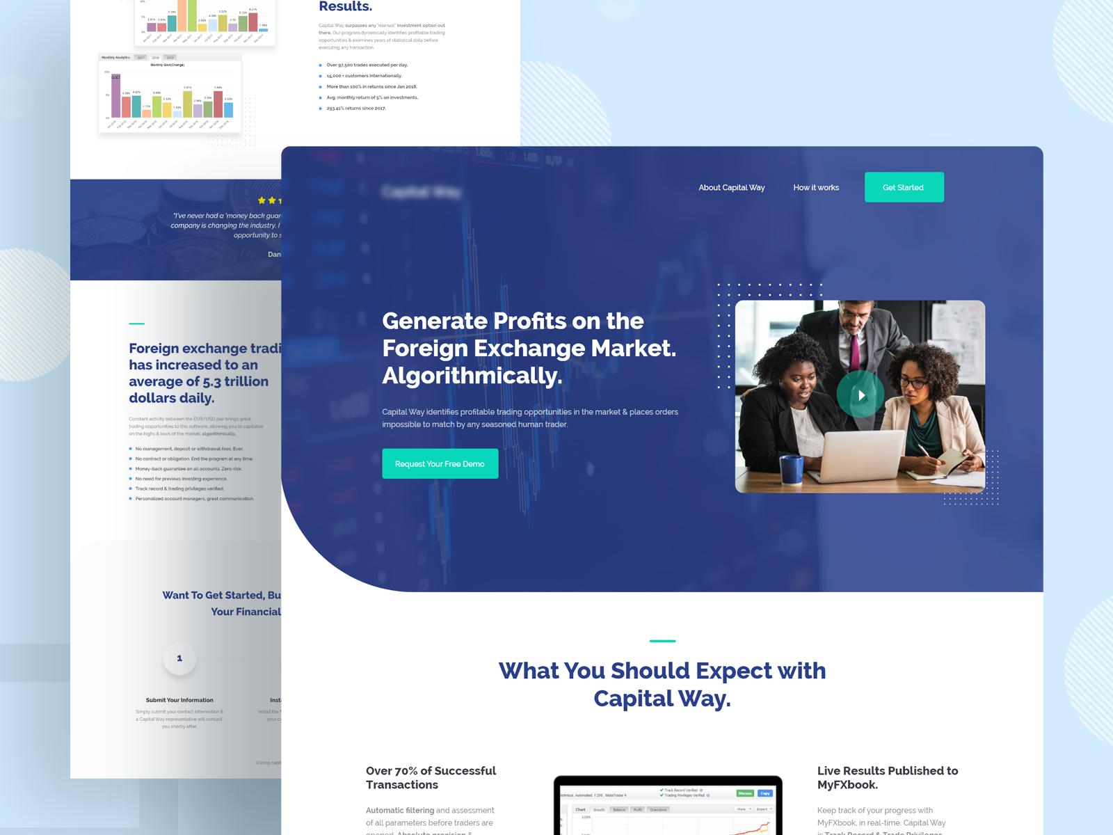 Financial Website Design Example #1