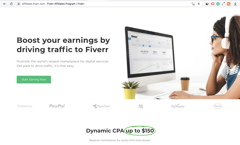 online affiliate program - Fiverr
