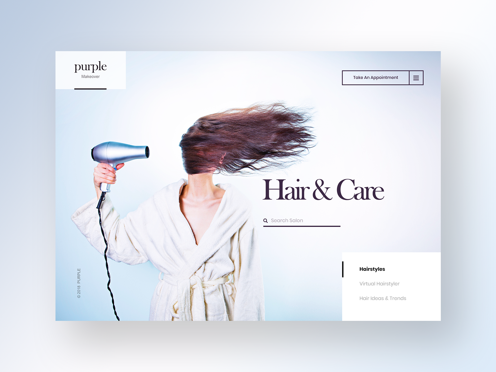 Hairstylist Website Example #2
