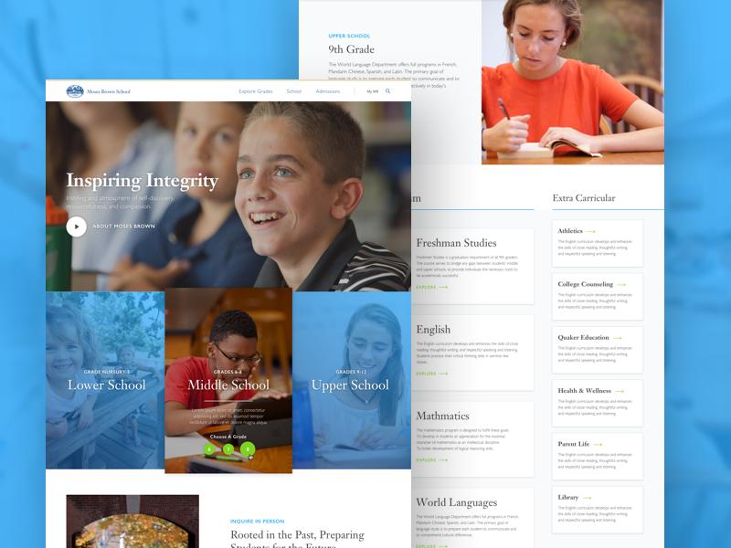 High School Website Example #1