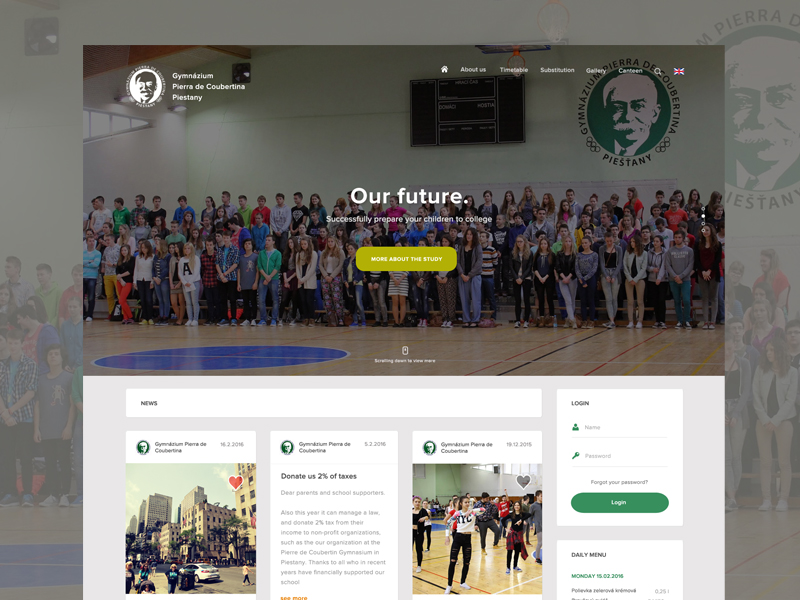 High School Website Example #2
