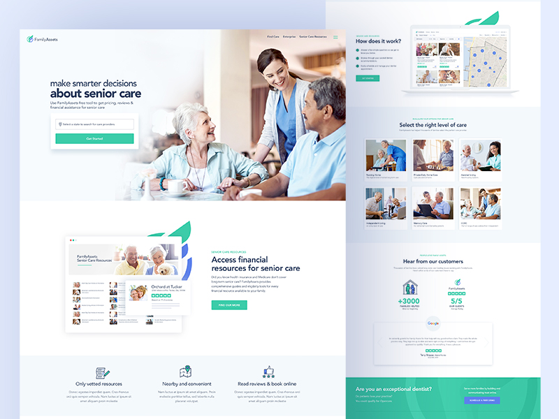 Home Health Care Website Design Example #3