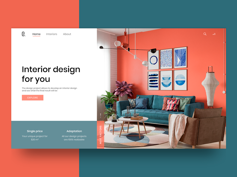 Interior Design Portfolio Website Example #1