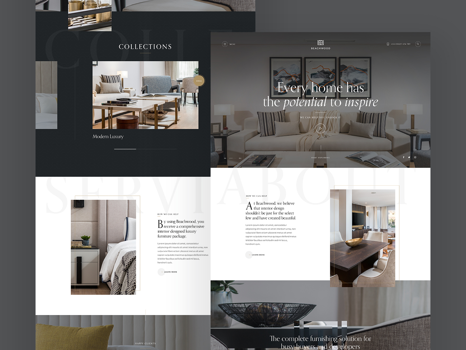 Interior Design Portfolio Website Example #2