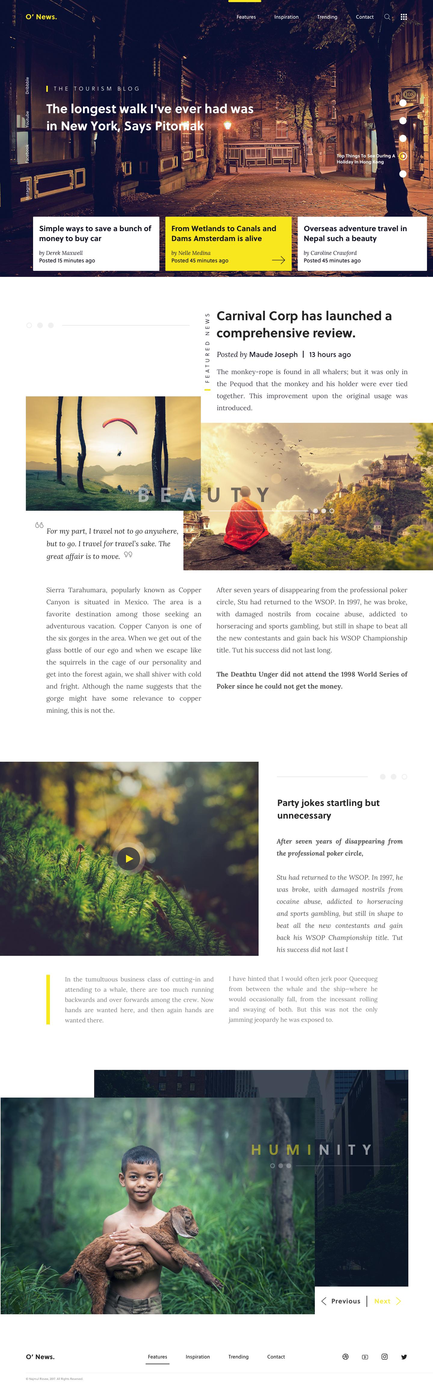 Journalism Portfolio Website Example #2