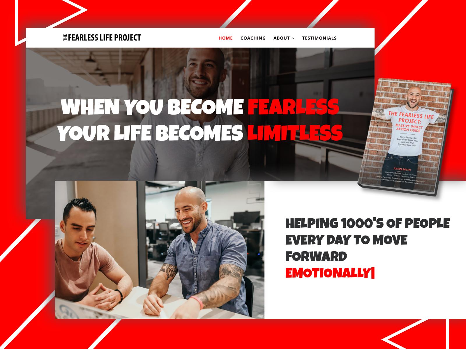 Life Coach Website Design Example #2