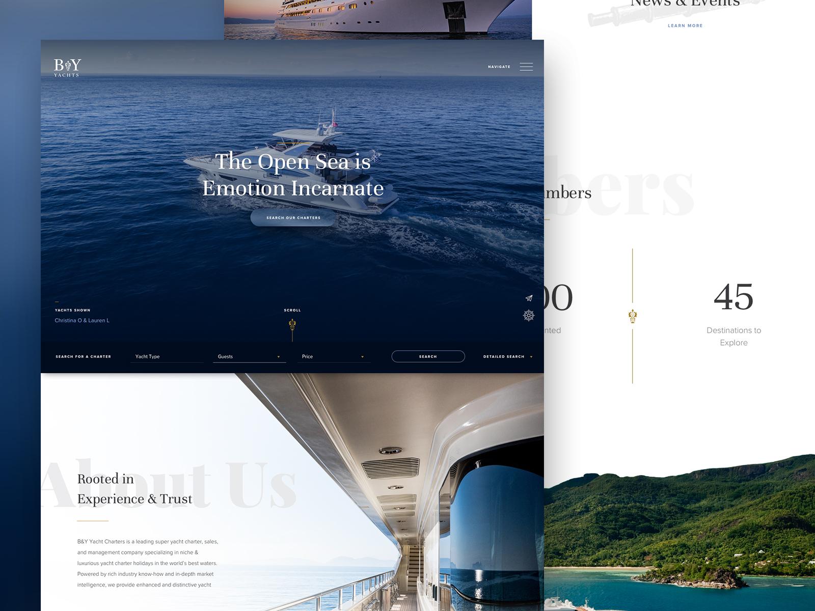 Luxury Hotel Website Design Example #1