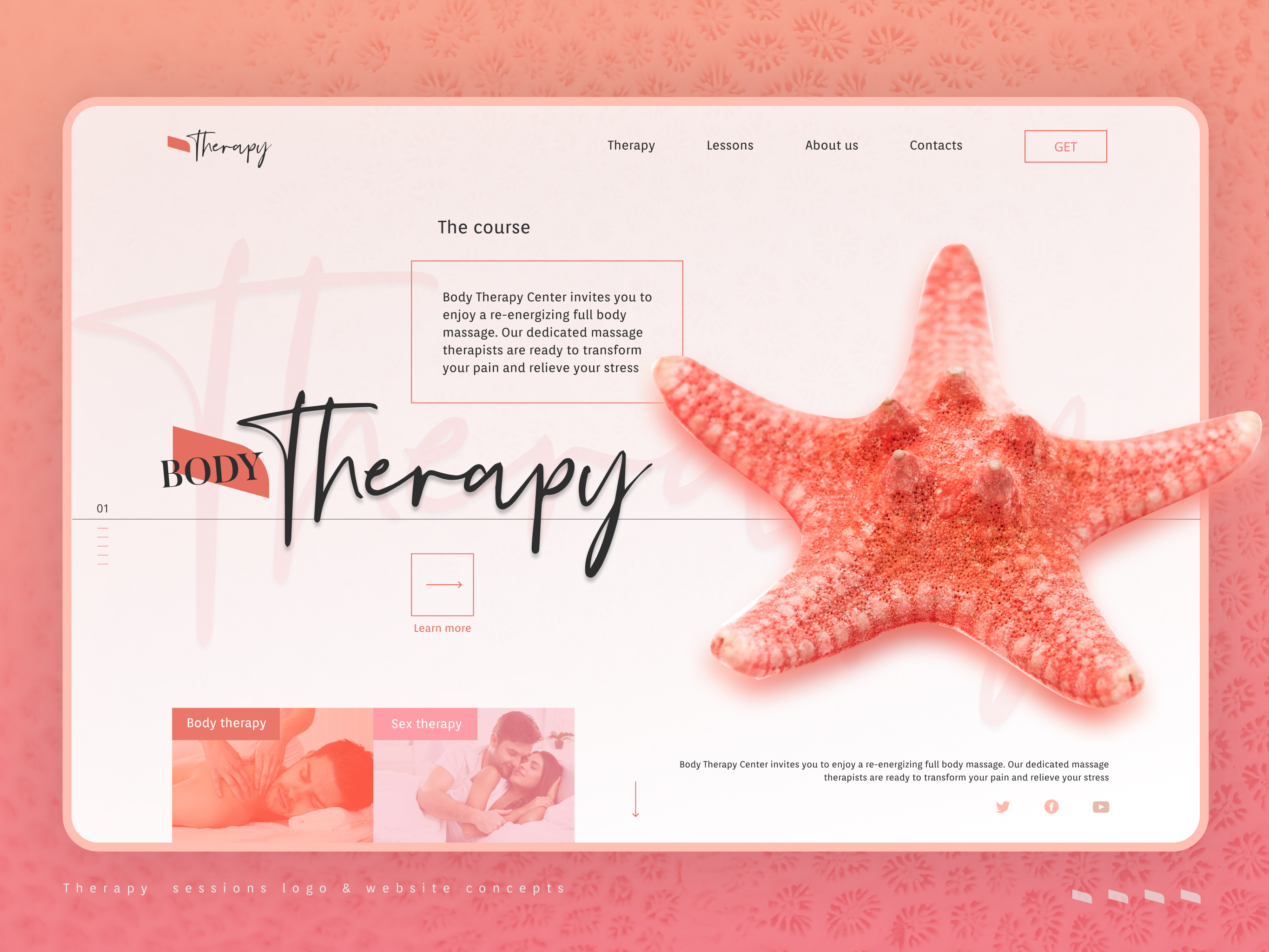 Massage Website Design Example #1