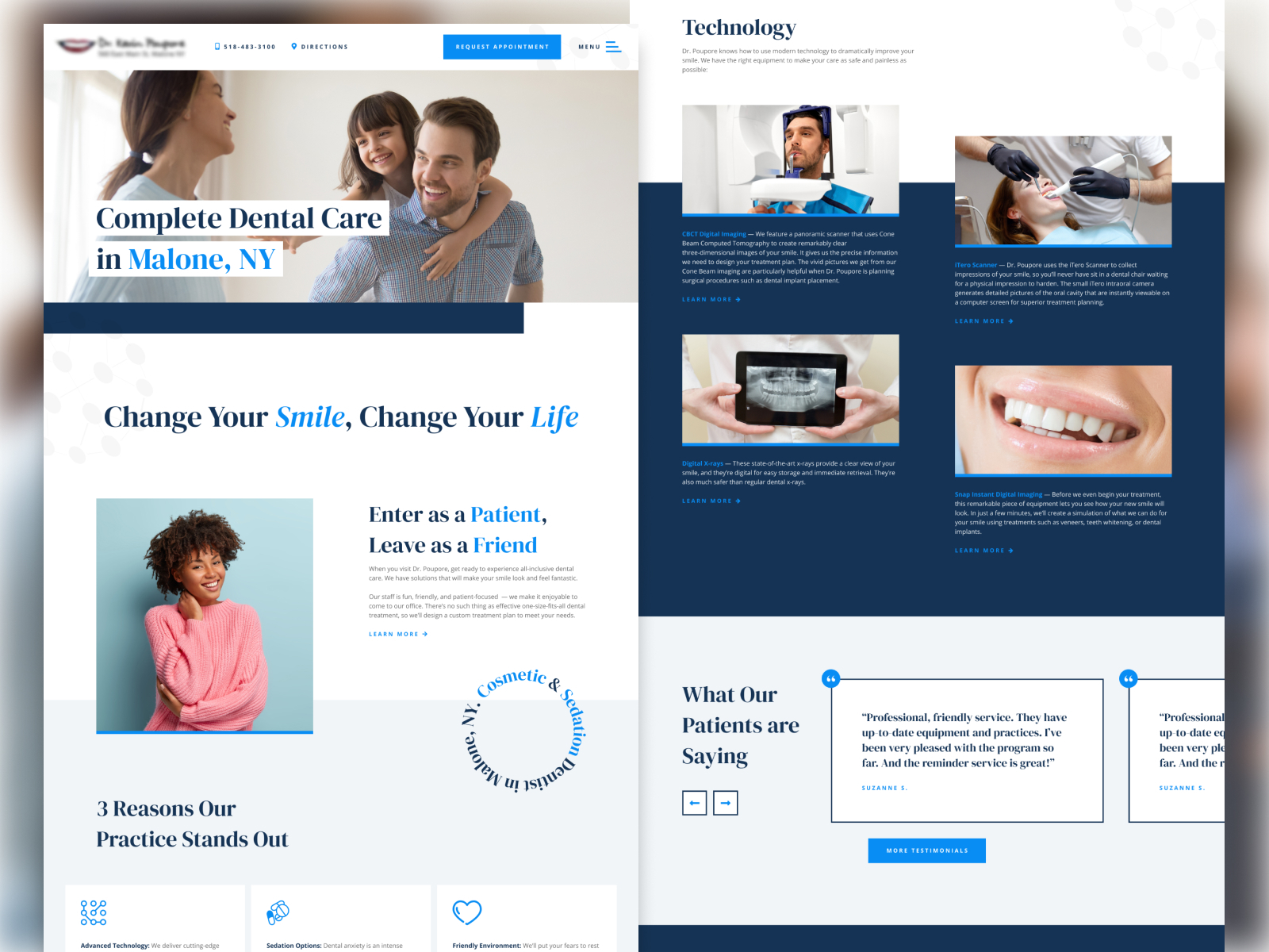 Medical Office Website Design Example #3