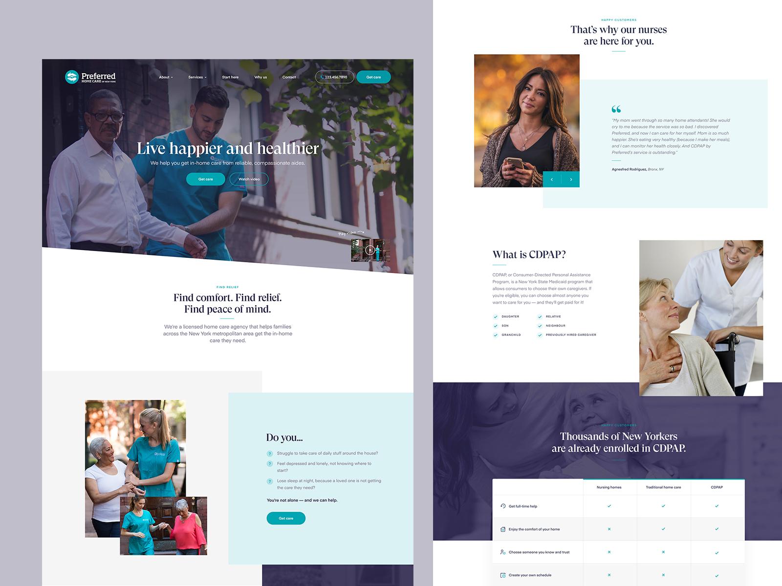 Medical Website Design Example #2