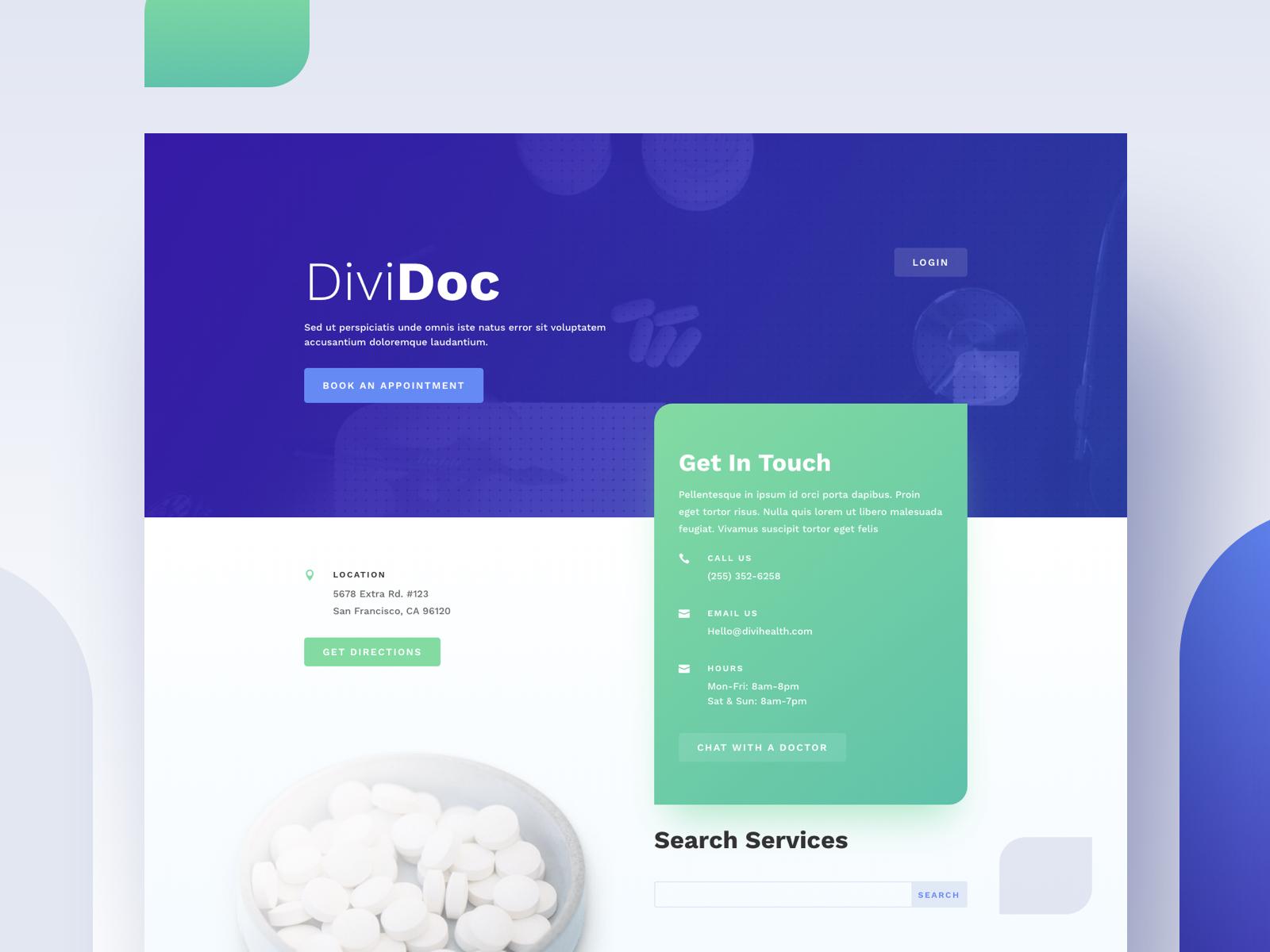 Medical Website Design Example #3