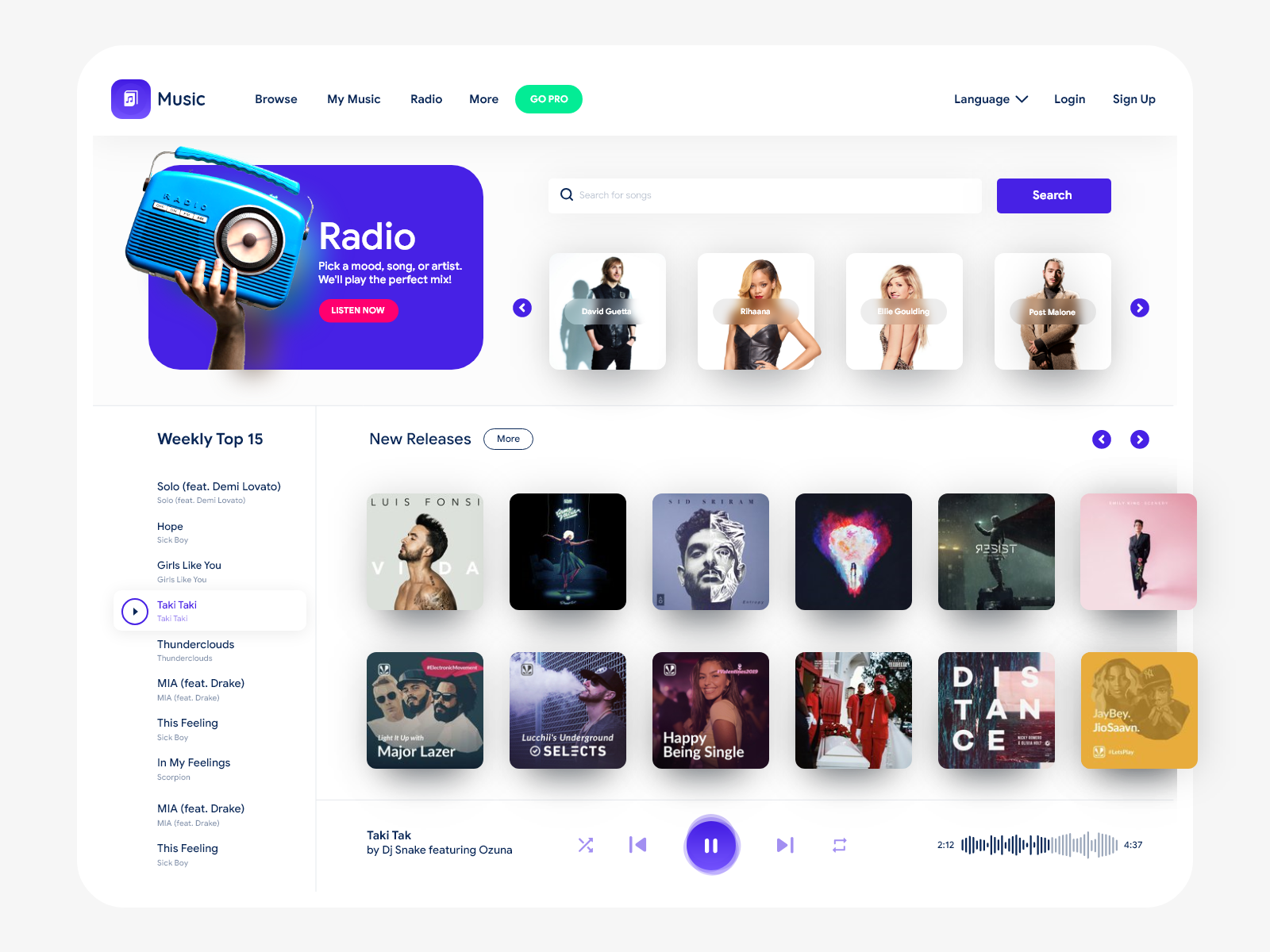 Music Producer Website Example #2