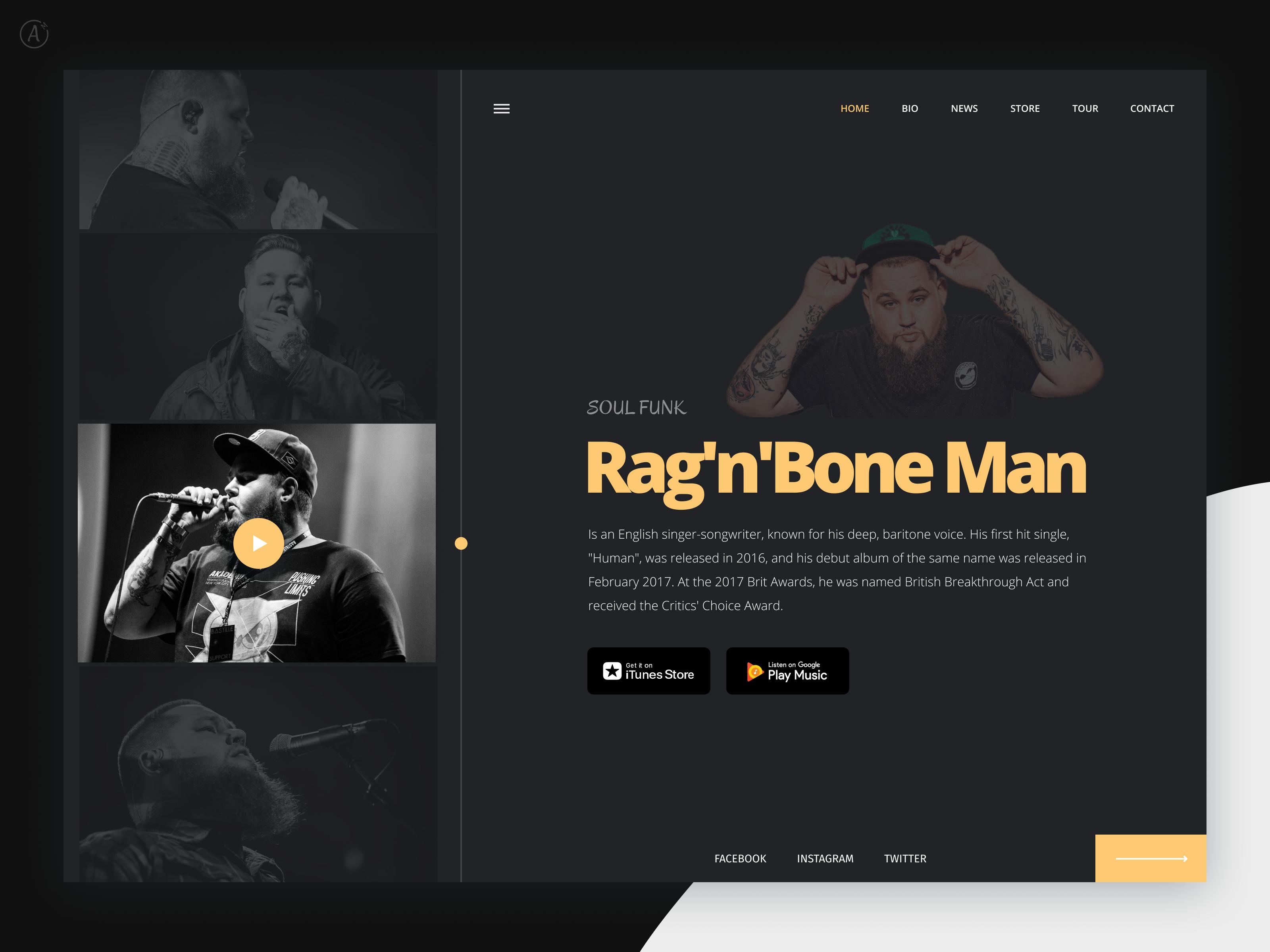 Musician Website Example #1