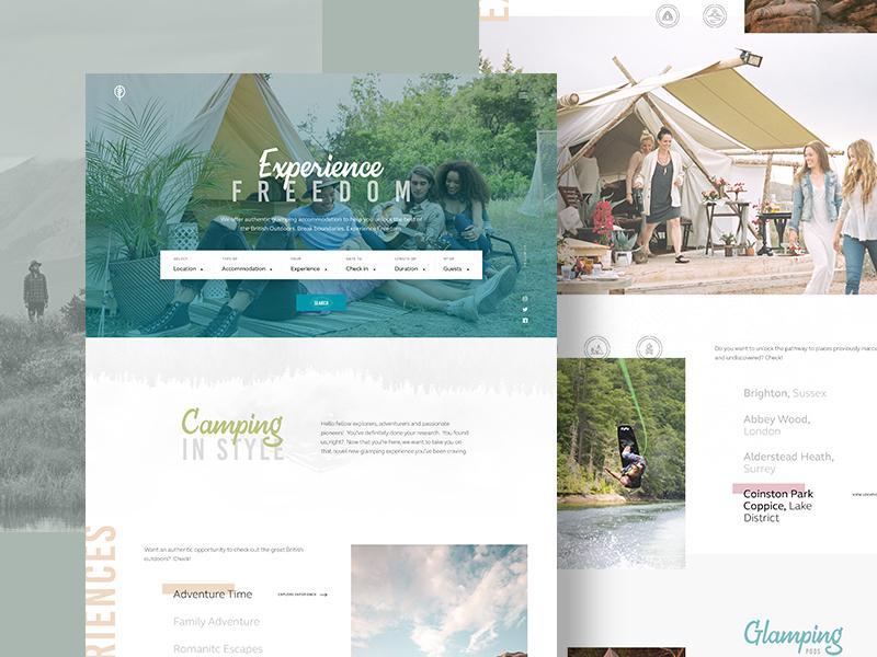 Outdoor Website Design Example #2