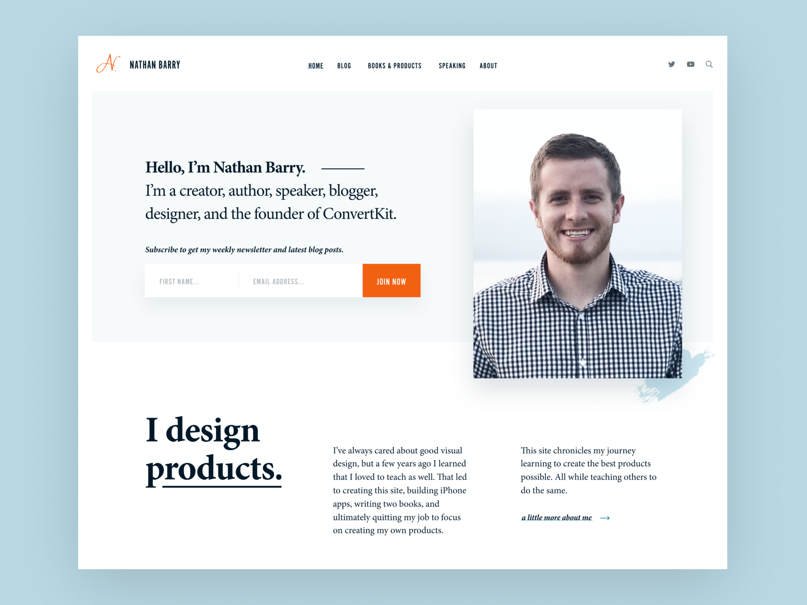 Personal Website Example #2