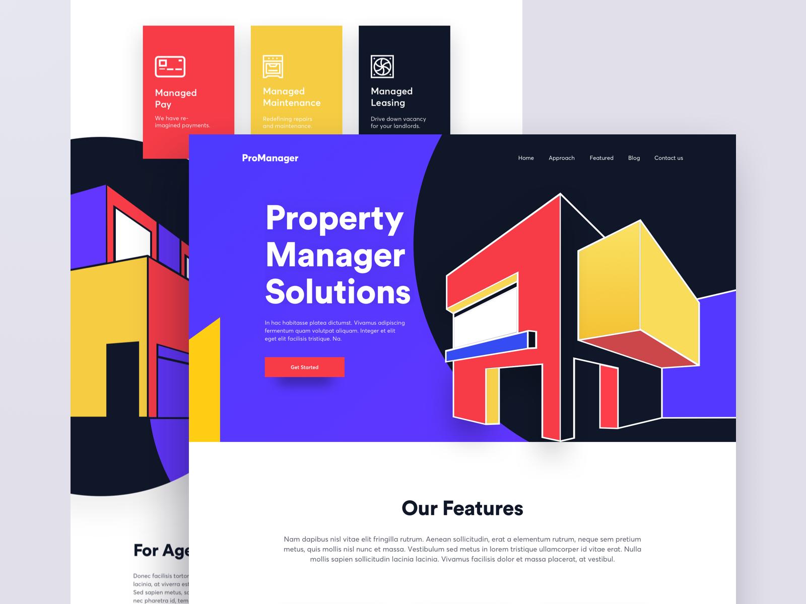 Property Management Website Design Example #2