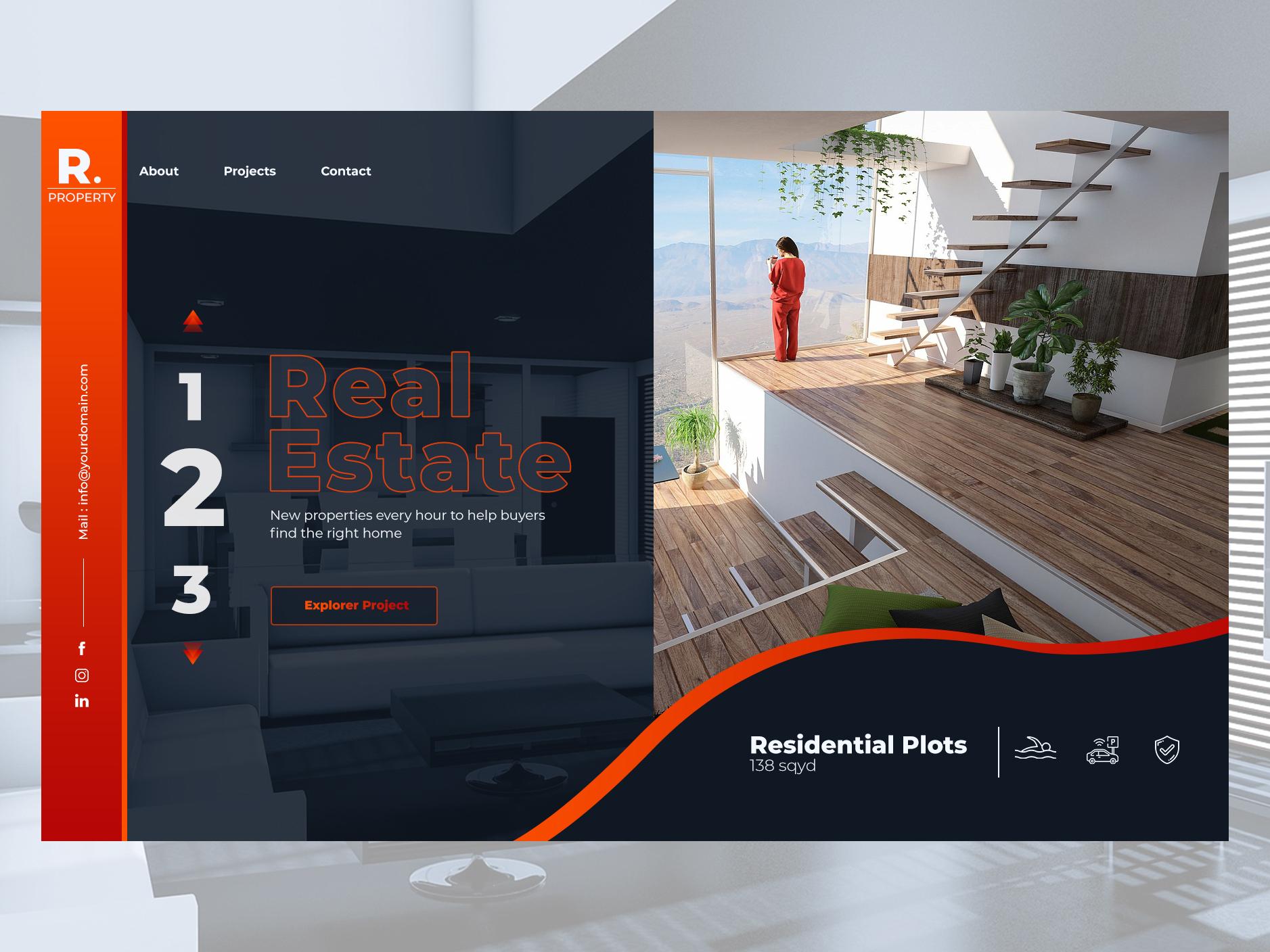 Real Estate Developer Website Example #1